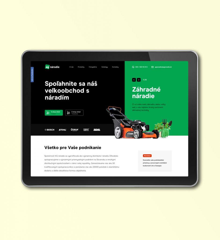 Redizajn webovej stránky AG Náradie