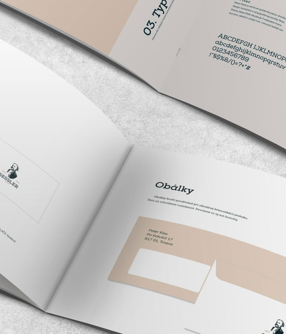 Ukážka dizajn manuálu - obálky