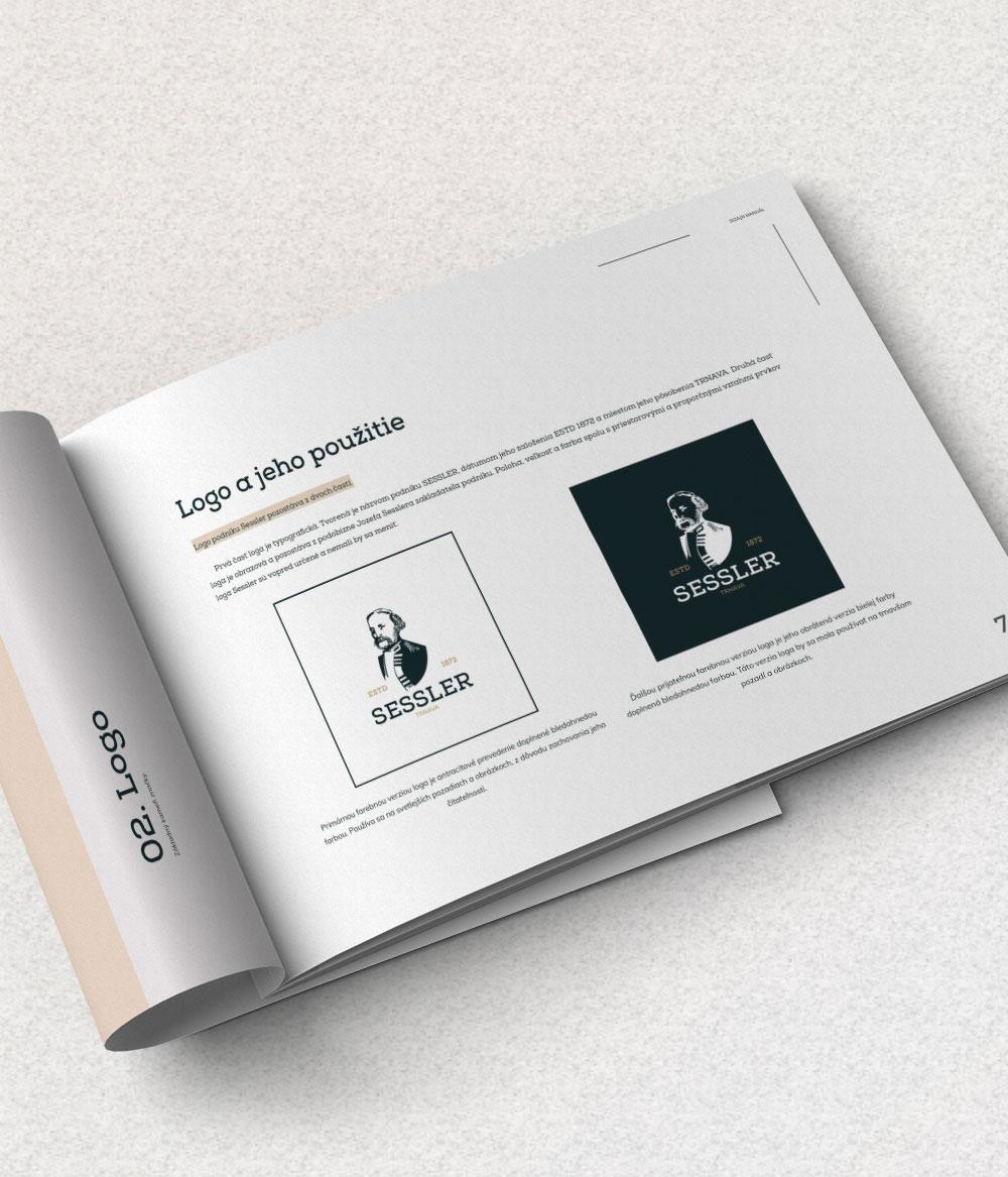 Redizajn loga Sessler v dizajn manuáli
