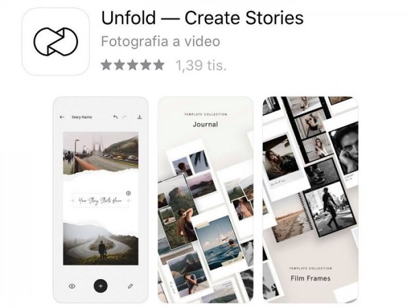 Obrazok aplikacie unfold
