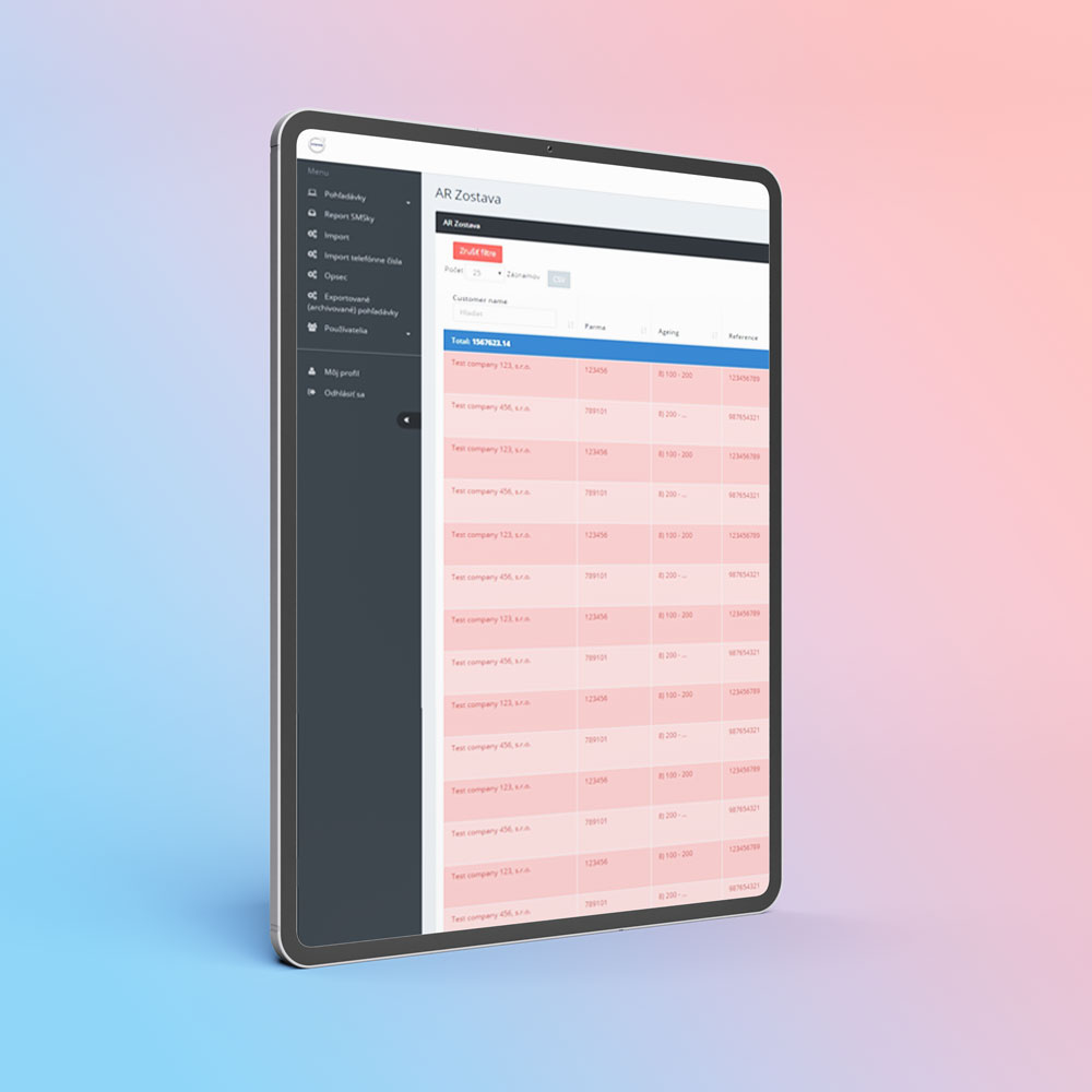 Volvo ukážka webovej aplikácie