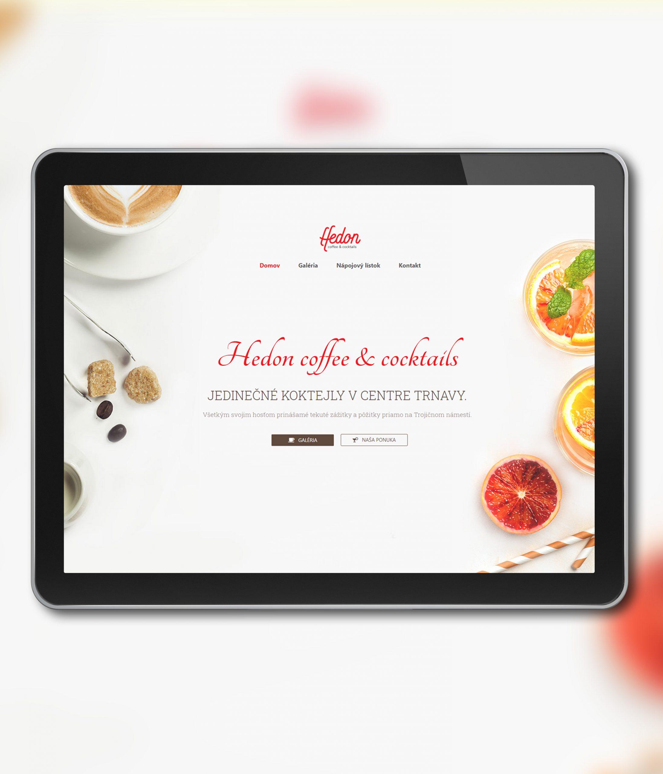 Tvorba webovej stranky Hedon
